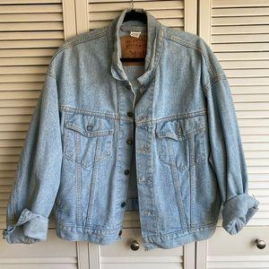 Oversized Denim Levi's Jacket Kanye West Inspired
